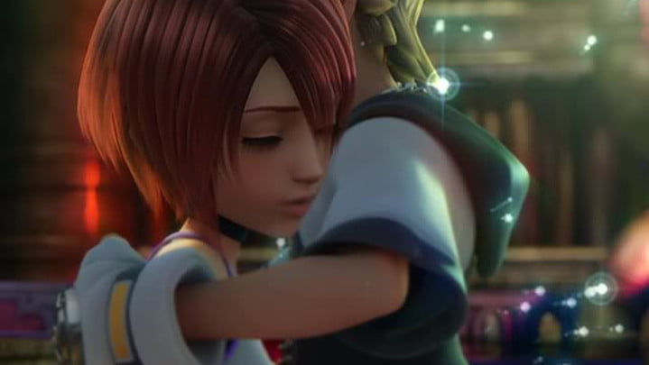 Kingdom Hearts Sora and Kairi