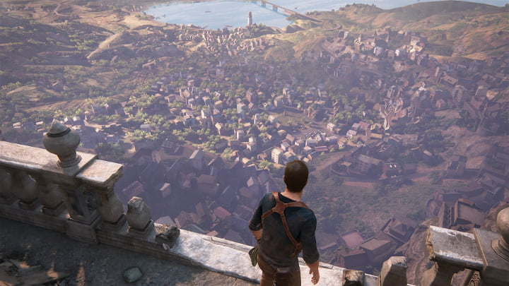 Uncharted 4 photo mode - looking down