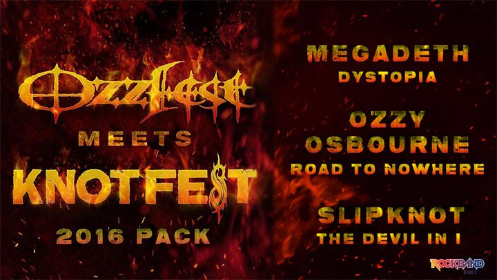 Rock Band 4 celebrates Ozzfest and Knotfest with new DLC