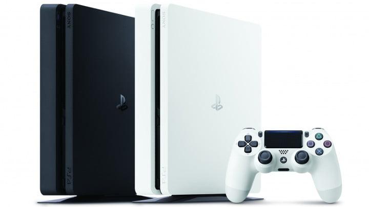 Glacier White PS4 vs black PS4 Slim