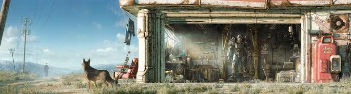 Fallout 4 art print garage