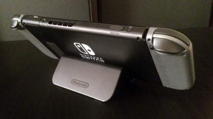 Nintendo Switch using the Wii U GamePad Stand - Back
