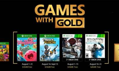 Xbox Games With Gold - August 2017