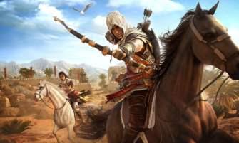 Assassin's Creed Origins - Bayek on horseback