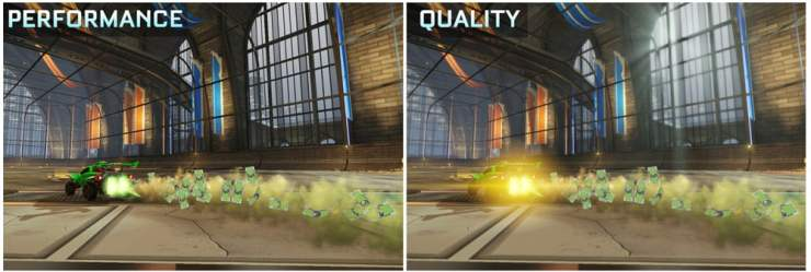 Rocket League Switch graphics comparison