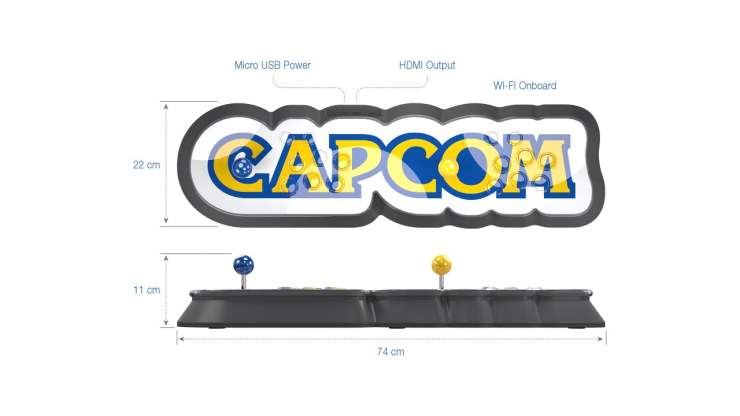 Capcom Home Arcade dimensions