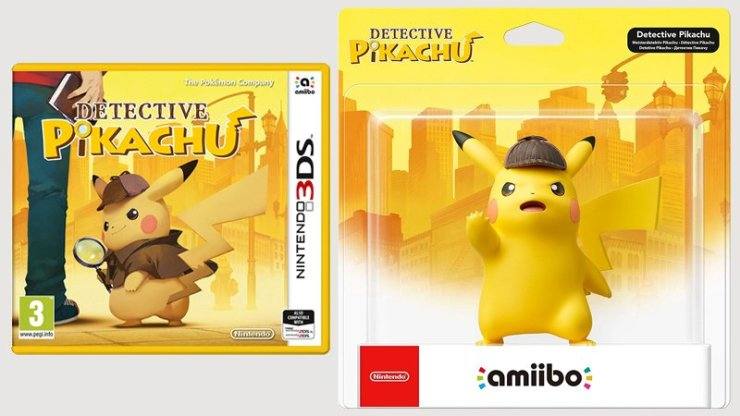 Detective Pikachu Nintendo 3DS and Amiibo