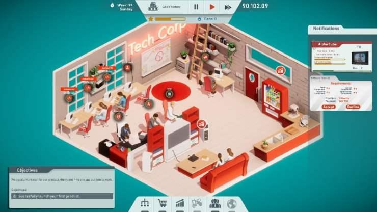 Tech Corp Screen 1