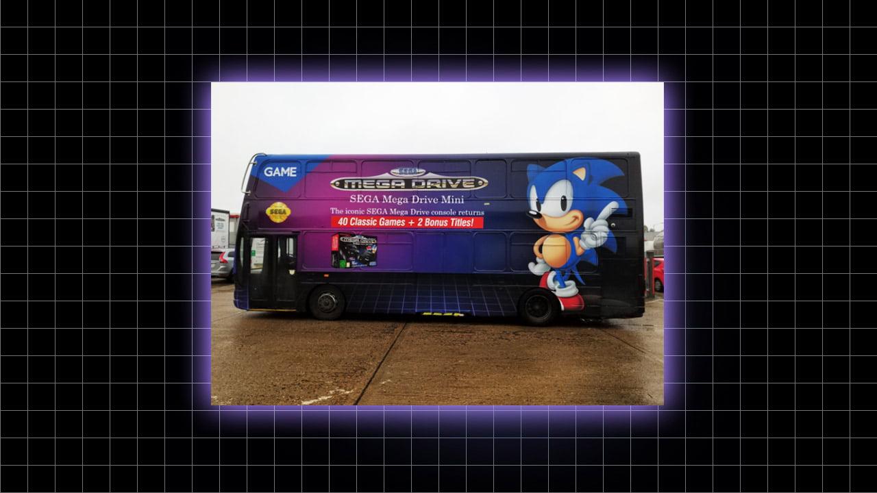 Take a trip to the 16-bit era on the Sega Mega Drive bus