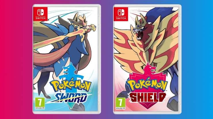 Pokemon Sword and Shield cover art comparison