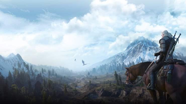 The Witcher 3 Geralt Roach dragons