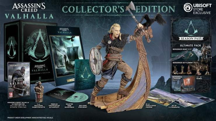 Assassin's Creed Valhalla collectors edition female protagonist