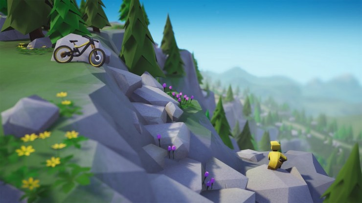 Lonely Mountains Downhill Nintendo Switch review rest spot