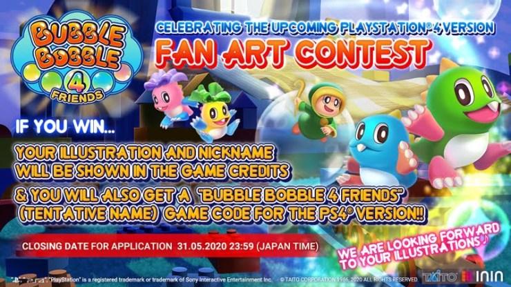 Bubble Bobble 4 Friends Fan Art Contest