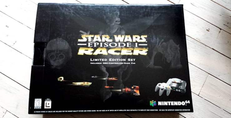 Star Wars Episode 1 Racer Nintendo 64 bundle