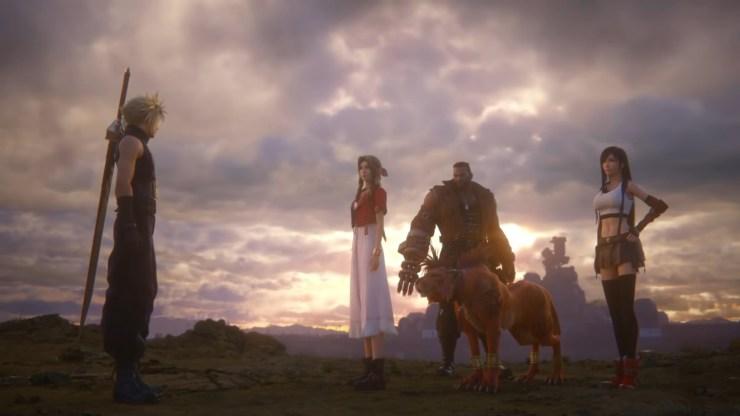 Final Fantasy VII Remake Ending Cloud Aerith Tifa Barret Red XIII