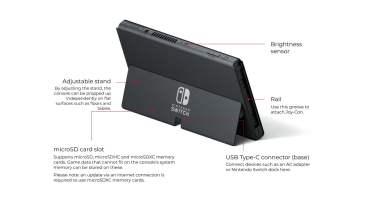 Nintendo Switch OLED Model back
