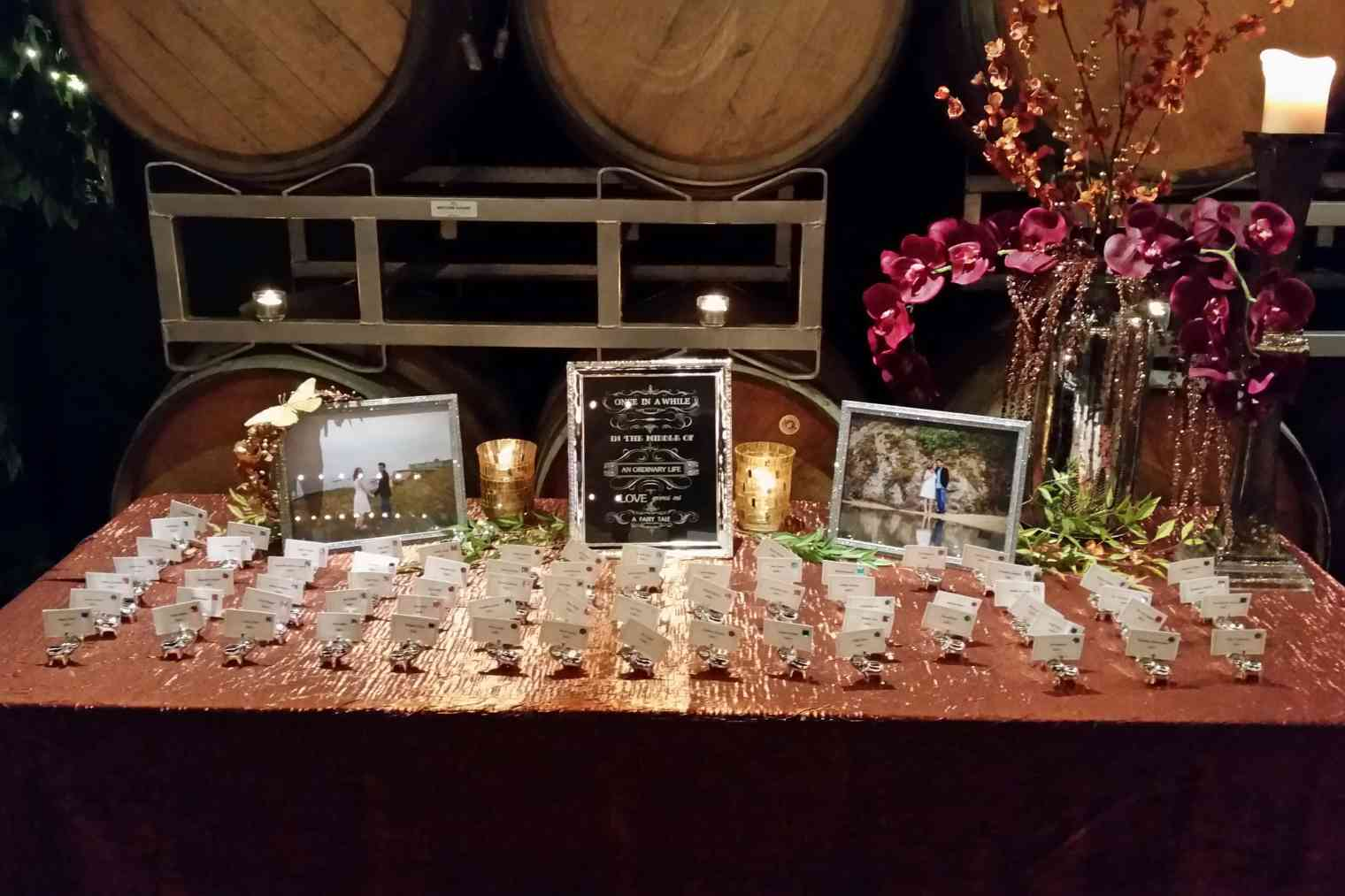Table arrangements by Mary K. Mitchell