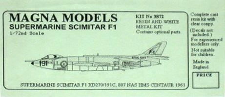Resultado de imagen de supermarine scimitar model kit