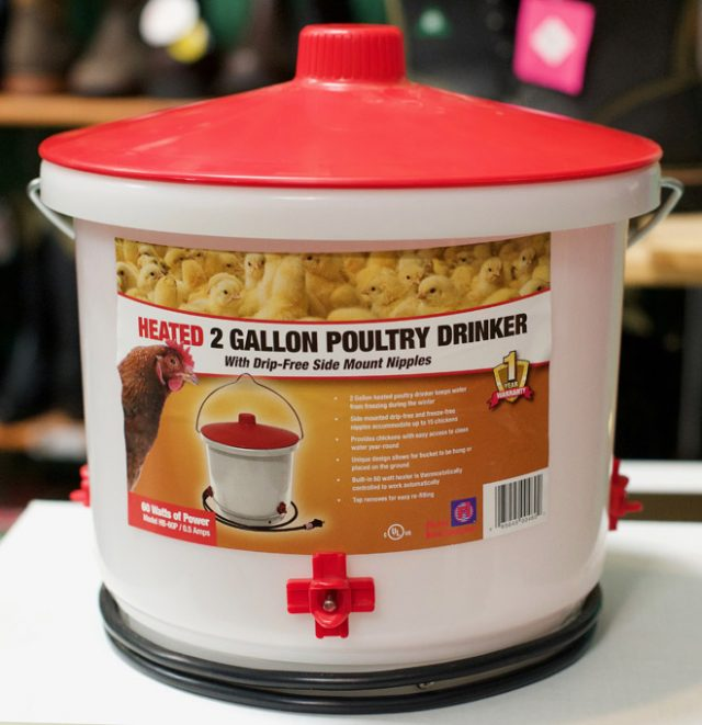 2-gallon poultry drinker