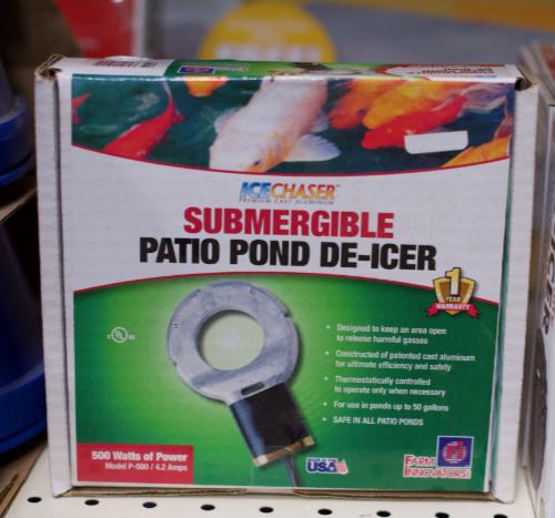 Patio Pond De-Icer