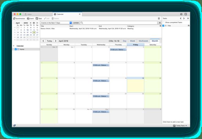 Lightning Calendar screenshot