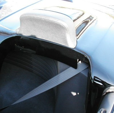 Roadster Style Tonneau rear shelf view