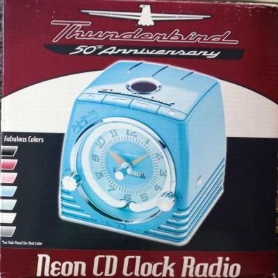 neon clock radio box