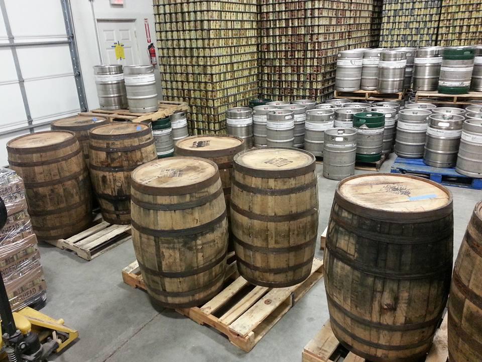 Axtell Brewery Barrels