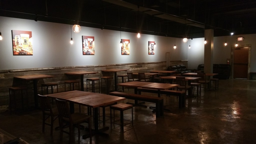 Taproom Seating at Night