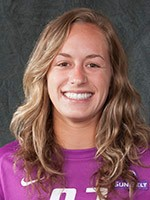 Sarah Hay, a junior, made two stops in penalty shootout, the second to advance the Jags to the Conference Final against Georgia State on Sunday at noon. Photo: usajaguars.com