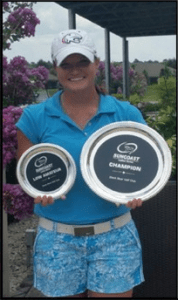 Kaeli Jones made history by winning the Suncoast Ladies Tour event with a 3-under 213 to also be the low amateur of the tournament. | photo credit: USAJaguars.com