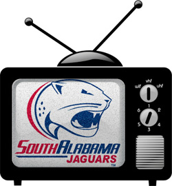South Alabama Logo on TV