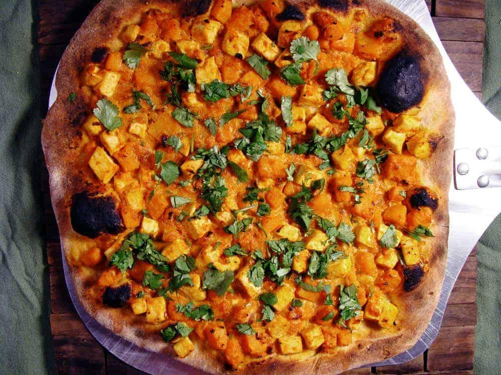 Vegetarian & Dairy-Free Thai Curry Pizza
