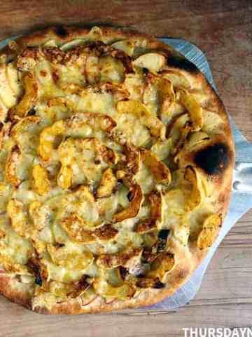 Acorn Squash and Apple Pizza