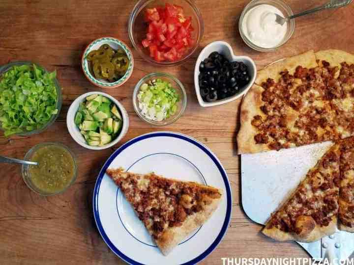Loaded Taco Pizza