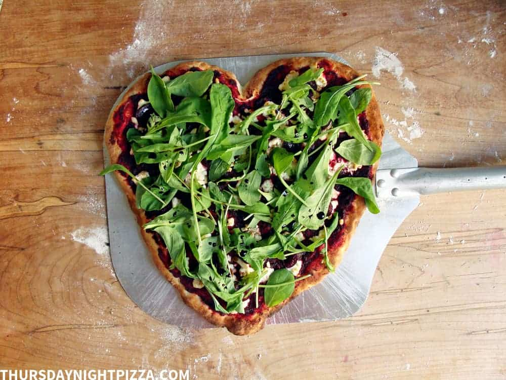 heart beet pizza