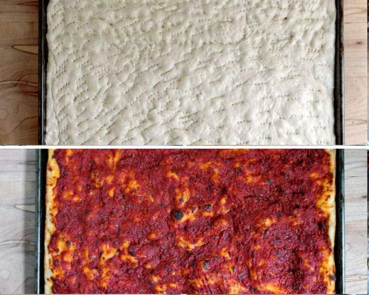 Tomato Pie, before and after baking