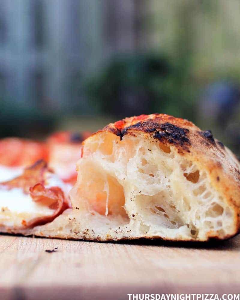 Neapolitan Pizza, close-up of crust
