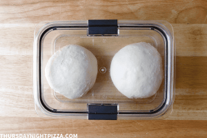 balls of dough ready for second rise