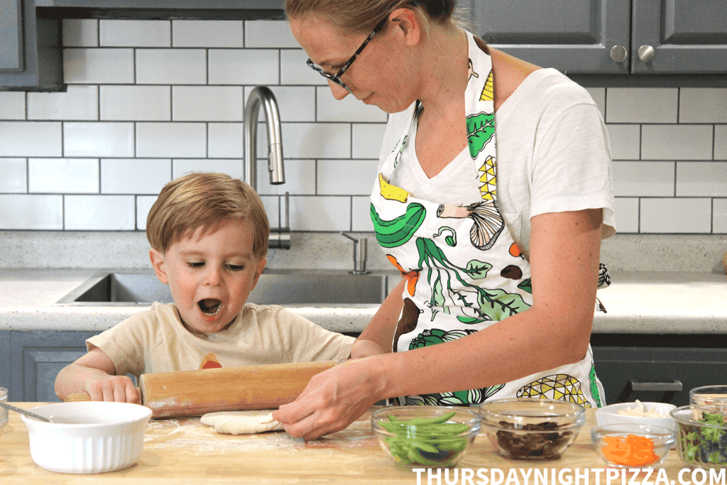 Making Pizza with Kids