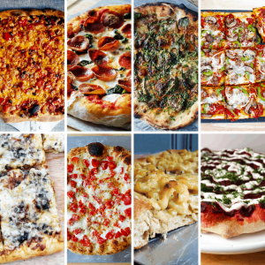 comfort food pizzas