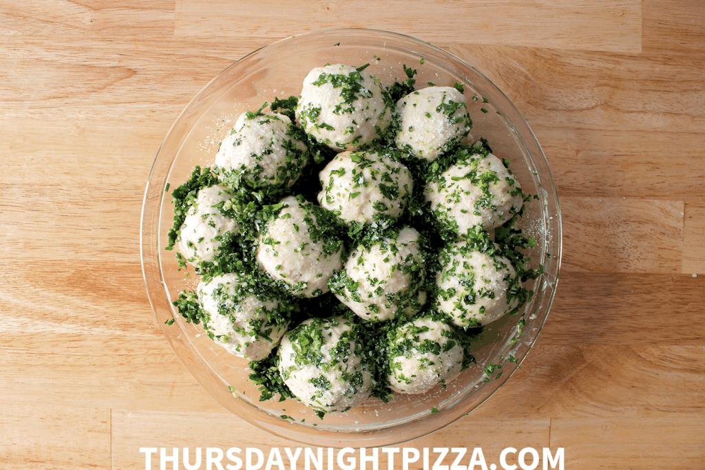 Pizza Dough Dinner Rolls