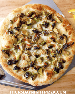 Old Bay Brussels Sprout Pizza
