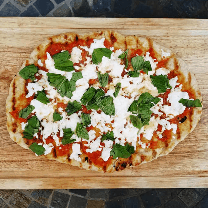 summer pizza recipe: twice grilled margherita pizza