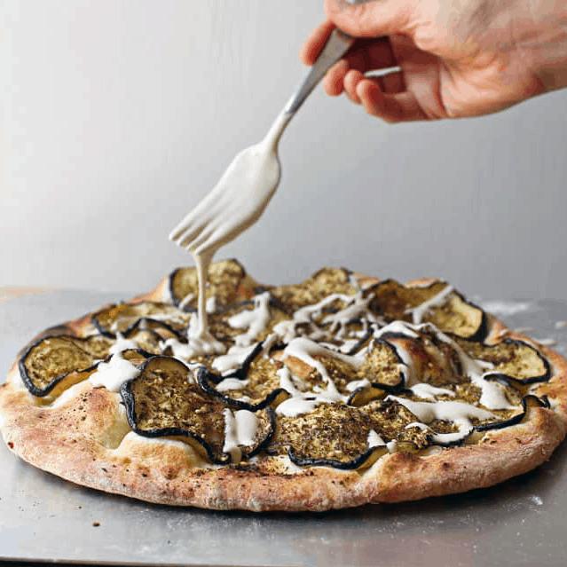summer pizza recipe: zaatar eggplant pizza