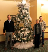 At Washington center christmas Tree made by Dorrie Carr and Shelly Thomas