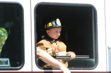 kids summer parade firefighter