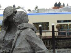 The Kiss Statue downtown Olympia