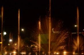 fountain night
